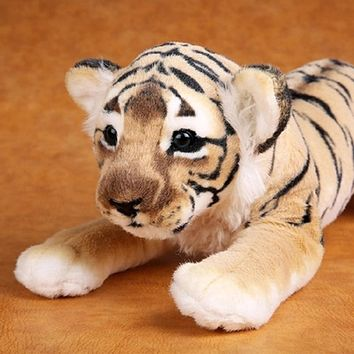 Soft Stuffed Baby Tiger Kitten Cat Plush Toys For Children