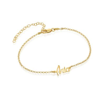 Ankle Bracelet With Name - Gold