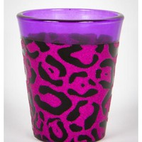 Pink & Purple Leopard 2 oz. Shot Glass