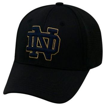 Notre Dame Fighting Irish Top of the World Rails 1Fit Flex Hat -Black