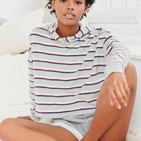 Project Social T X Out From Under Striped Terry Hoodie Sweatshirt