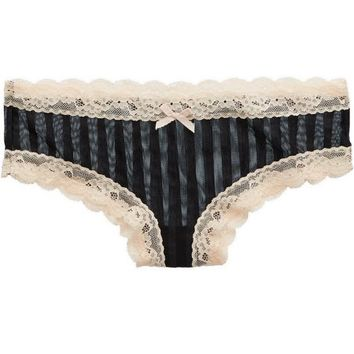 Aerie Women's Stripe Mesh Cheeky