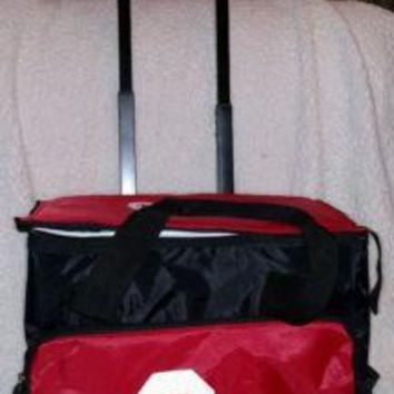 Oklahoma Sooners Backpack Rolling Wheeled Insulated Cooler Ice -- Collapsible
