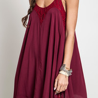 Asymmetrical Dress With Lace Details