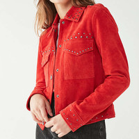 UO Studded Suede Trucker Jacket | Urban Outfitters