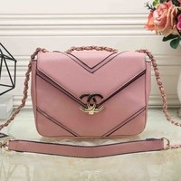 CHANEL Women Fashion Leather Chain Satchel Shoulder Bag Crossbody