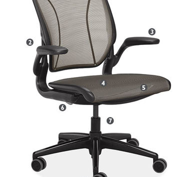 Diffrient World Office Chairs in Black