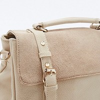 Ivory Suede Convertible Backpack - Urban Outfitters