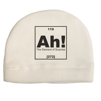 Ah the Element of Surprise Funny Science Adult Fleece Beanie Cap Hat by TooLoud