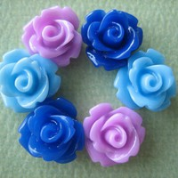 6PCS - Mini Rose Flower Cabochons -.. on Luulla