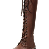 """Karina"" Boots by 1031 Shoes (Brown)"