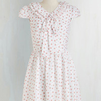 Mid-length Cap Sleeves Fit & Flare Flower Shop O'Clock Dress