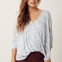 Blue Life Draped Blouse