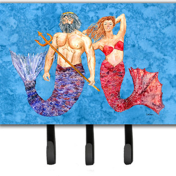 Mermaid and Merman Leash or Key Holder