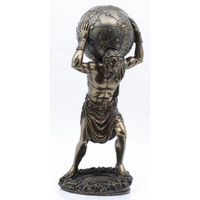 Bronze Finish Atlas Holding the Heavens Statue