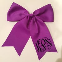 Monogrammed Hair Bow for Softball, Cheerleading, anything!