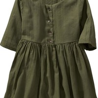Old Navy 3/4 Sleeve Crepe Dresses For Baby