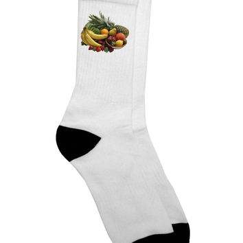 Fruit Basket Still Life Adult Crew Socks