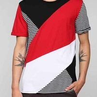 Charles & 1/2 Pieced Colorblock Stripe tee-