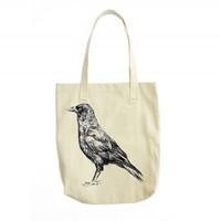 Crow Tote Bag - Affordable Art + More | Joelle's Emporium