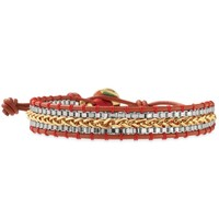 Gold, Silver & Red Thread Bracelet | Foundation Bracelet | Stella & Dot