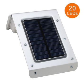 Third Generation 20 LED Solar Lamps Human Body Motion Sensor Ray Garden Home Security Outdoor Wall Light Waterproof Lighting