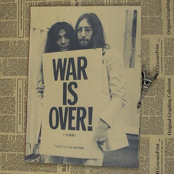 Vintage Poster John Lennon The Beatles retro rock decorative painting poster paper retro poster