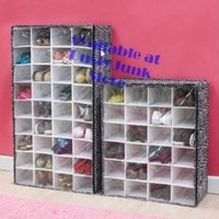 Animal Print Zebra 36 Shoe Storage Organizer