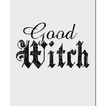 "Good Witch - Halloween Distressed Aluminum 8 x 12"" Sign"