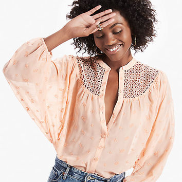 Lace Yoke Dolman Top | Lucky Brand