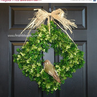 WREATHS ON SALE spring wreaths square boxwood wreath door front door decor wreath decorations rustic wedding gift