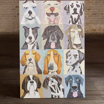 Oil Painting- 12 Emotional Dogs