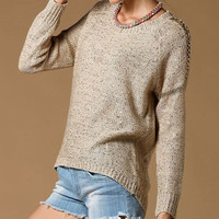 Sequin Knitted Loose Sweater