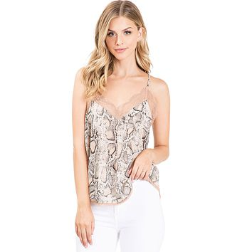 Airy Lace Trim Cami