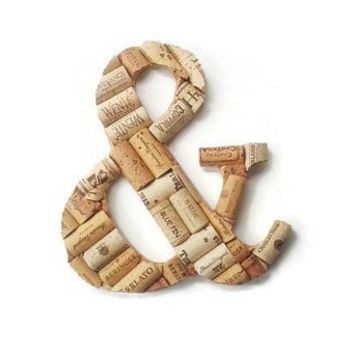 Wine cork letter and symbol (&) ampersand | wine cork decor | house warming gift | decorative letters