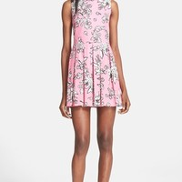 Women's RED Valentino Print Stretch Cotton Pique Dress