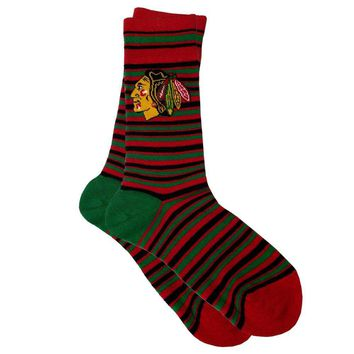 Chicago Blackhawks NHL Stylish Socks (1 Pair) (S-M)