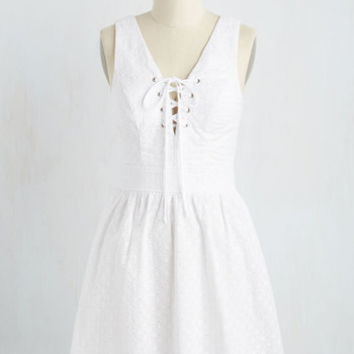Keep Your Eyelet on the Ball Dress | Mod Retro Vintage Dresses | ModCloth.com