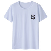 Burberry simple solid color letter printed round neck short-sleeved T-shirt white