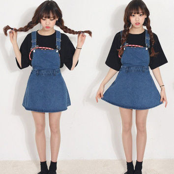 DENIM OVERALL SKIRT