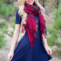 Astrid Ribbed Dress - Navy