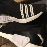 Adidas WM NMD R2 PK White Mountaineering Primeknit Black White BB2978