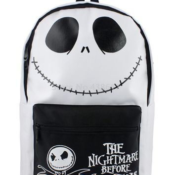 New Black and White The Nightmare Before Christmas Jack School Bags for Boys Children Primary School Backpack Kids Bag