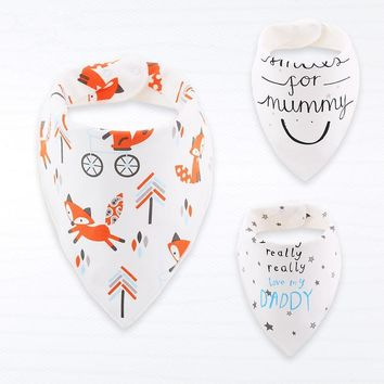 Baby Bandana Bibs Cotton Baby Feeding Burp Cloths Double-layer Baby Bib Toddler Boys Girls Bib Infant Saliva Smock Baby Stuff