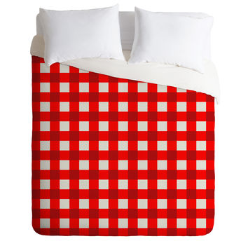 Holli Zollinger Red Gingham Duvet Cover