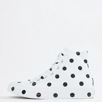 Converse Chuck Taylor All Star Hi Trainers In Polka Dot at asos.com