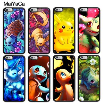 MaiYaCa Charizard Squirtle Vaporeon Pokemons Phone Case for iPhone 6 6s Plus 7 8 Plus X 5 5S SE Capa Fundas Soft TPU Case Cover