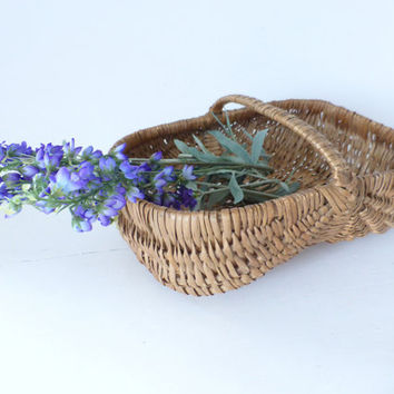 Vintage French Gathering Basket
