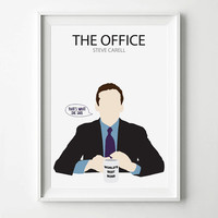 The Office Michael Scott TV Show Poster - TV Poster, Minimalist Wall Poster, Quote Print, Digital Art Print