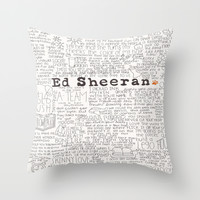 ed sheeran. Throw Pillow by Calm Oceans™